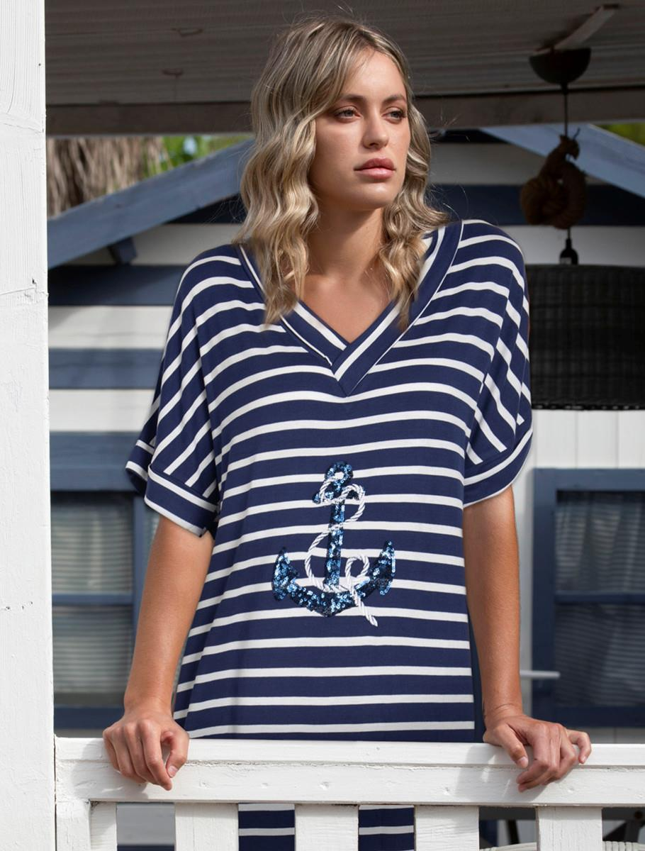 BEACH DRESS CRUISER BLUE