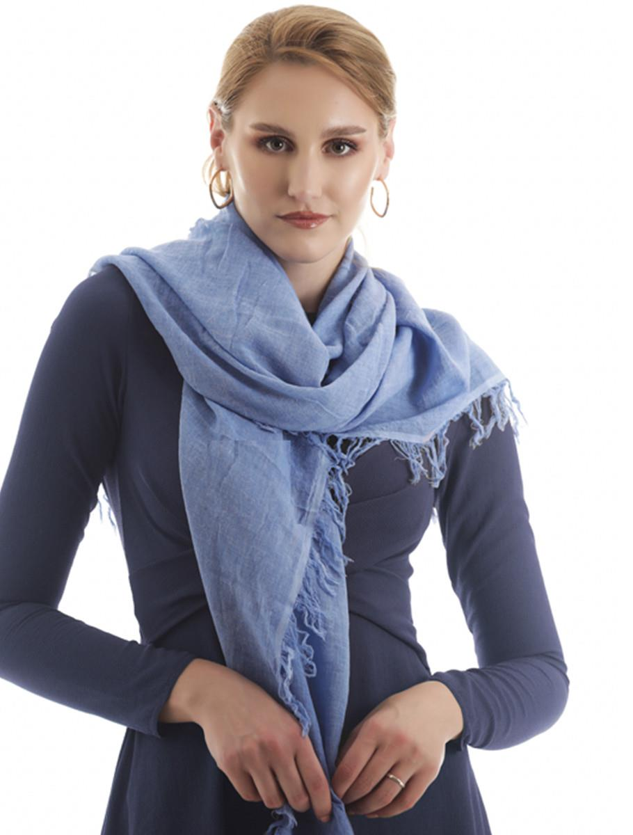 CASUAL SCARF BLUE