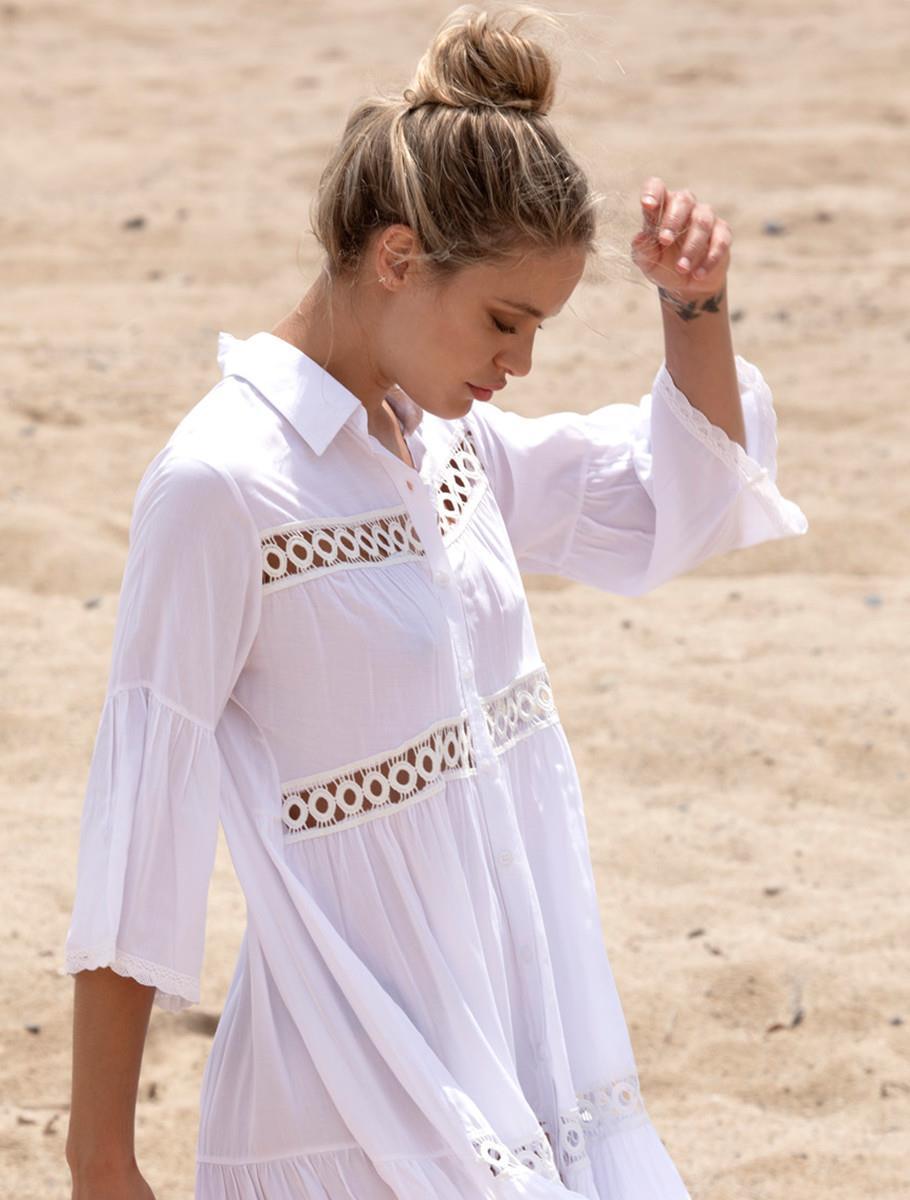 WINDY DRESS WHITE
