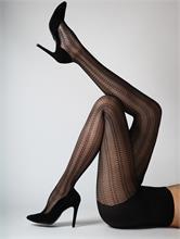 BLACK BRODERY EFFECT 50 DEN   Escapade Fashion