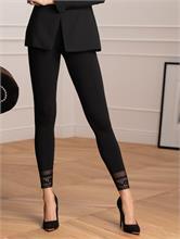 BRODERY LEGGINGS BLACK | Escapade Fashion