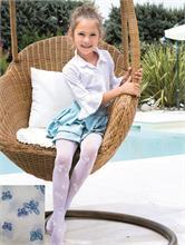 OLGA WHITE BLUE BUTTERFLY 40 DEN | Escapade Fashion