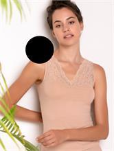 PURITY LACE UNDERSHIRT BLACK | Escapade Fashion
