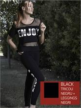SET ENJOY FITNESS BLACK | Escapade Fashion