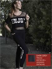 SET ENJOY FITNESS DARK GREY | Escapade Fashion