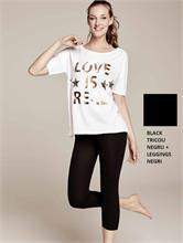 SET FITNESS LOVE BLACK | Escapade Fashion
