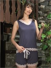 WOMAN LACE MODEL GREY   Escapade Fashion