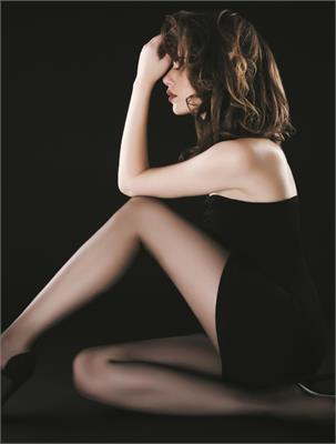 ELEGANT BLACK 12 DEN SIZE 2 (Neuniformitatile din partea superioara a ciorapului nu sunt un defect, ele dispar cand acesta este imbracat) | Escapade Fashion