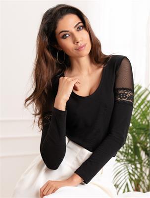 FEMININE COTTON TULLE BLACK SIZE L | Escapade Fashion