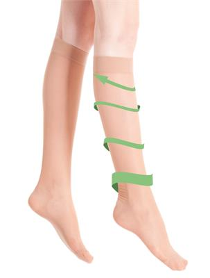 VITA LEG SOCKS BEIGE SIZE  38-39 | Escapade Fashion